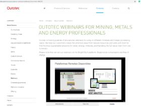 Outotec Webinars for Mining