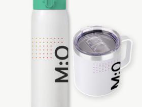Branded bottle and mug