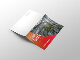 Welcome card unfolded
