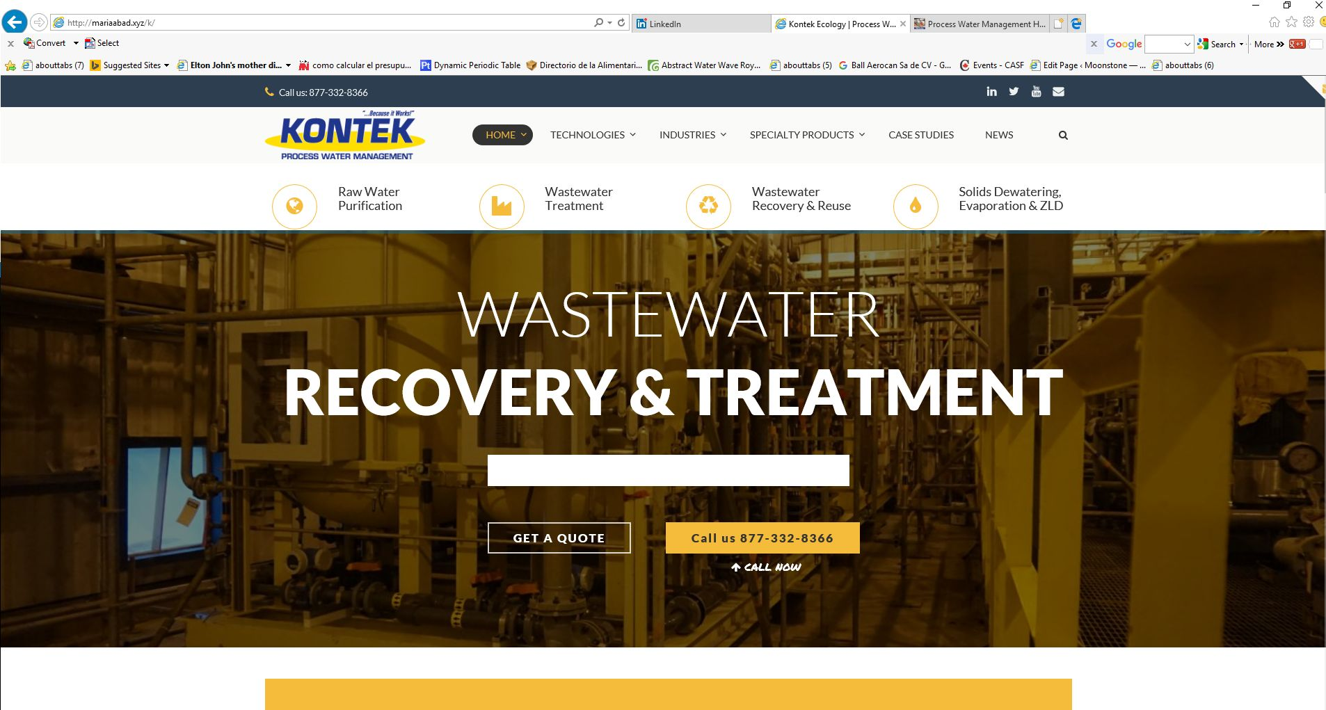 Kontek indicial website optimization  – Main offering